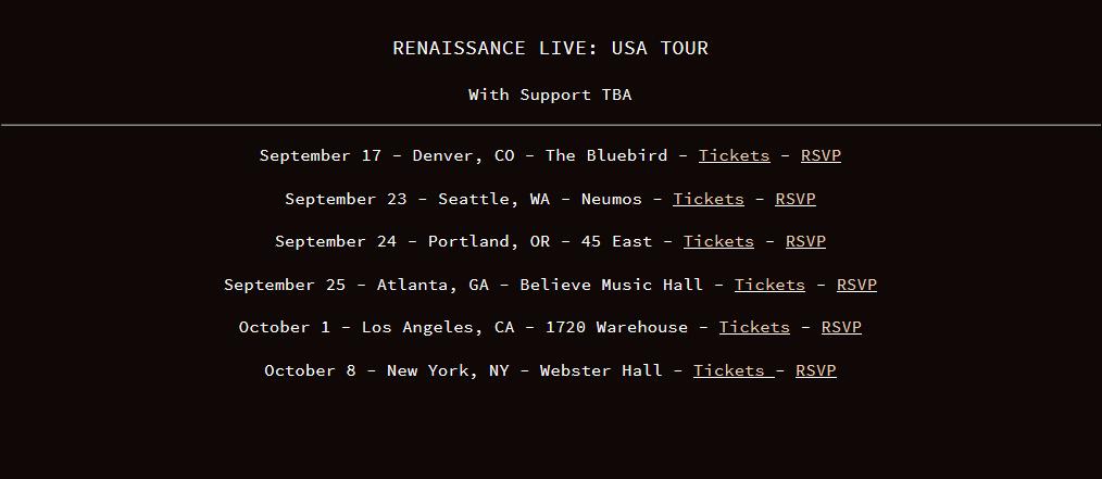 Apashe's Renaissance Live Tour